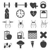 10个eps文件健身图标透明度 图库摄影