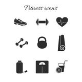 10个eps文件健身图标透明度 库存照片