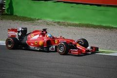 2014个F1蒙扎法拉利F14 T -费尔南多・阿隆索 免版税库存图片