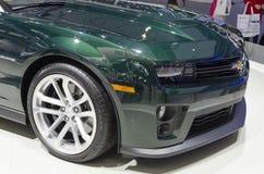 2013个GZ AUTOSHOW-CHEVROLET Camaro ZL1 免版税库存照片