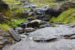 3个hdr图象山全景河垂直 库存图片
