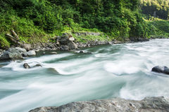 3个hdr图象山全景河垂直 库存照片