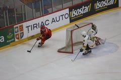 2017个IIHF冰球世界冠军-澳大利亚对比利时 免版税库存图片