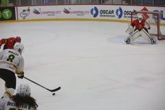 2017个IIHF冰球世界冠军-澳大利亚对比利时 图库摄影