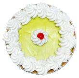 整个Keylime饼用在上面的樱桃 库存图片
