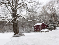 19个NJ的世纪历史的谷仓 图库摄影