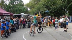 2013个NYC单轮脚踏车节日60 免版税库存照片