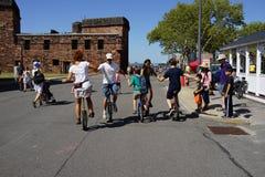 2015个NYC单轮脚踏车节日34 免版税库存图片