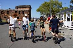 2015个NYC单轮脚踏车节日37 库存照片