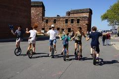 2015个NYC单轮脚踏车节日38 免版税库存照片