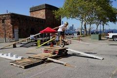 2015个NYC单轮脚踏车节日59 免版税库存图片