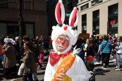 2014个NYC复活节游行哀伤的复活节兔子 库存照片