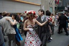 2015个NYC复活节游行&帽子节日37 库存图片