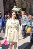 2014个NYC复活节游行18 库存照片