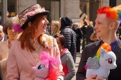 2015个NYC复活节游行134 免版税图库摄影