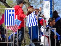 2016个NYC希腊人美国独立日游行30 免版税库存照片
