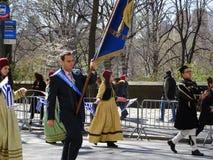 2016个NYC希腊人美国独立日游行32 免版税库存照片