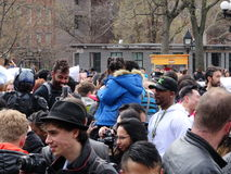 2016个NYC枕头战天67 免版税库存照片