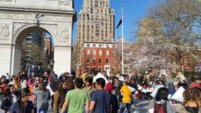 2016个NYC枕头战日期部分4 6 免版税图库摄影