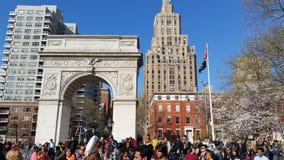 2016个NYC枕头战日期部分4 8 免版税库存照片