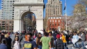 2016个NYC枕头战日期部分4 9 免版税库存图片