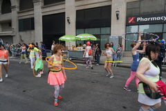 2015个NYC舞蹈游行第2部分81 免版税库存图片