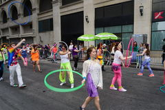 2015个NYC舞蹈游行第2部分83 免版税库存照片