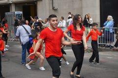 2015个NYC舞蹈游行第3部分91 库存照片