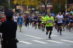 2017个NYC马拉松 库存照片