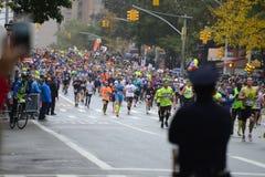 2017个NYC马拉松 库存图片