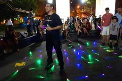 2014个NYC Lighsaber争斗113 免版税图库摄影