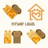 4个Petshop商标 库存照片