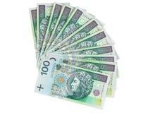 100个PLN波兰钞票  免版税库存照片
