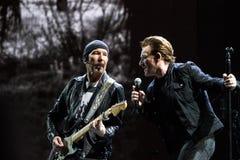 2017个U2约书亚树世界游览第30周年 免版税图库摄影