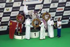 2013个UIM F1 H20世界快速汽艇冠军 库存照片