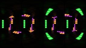 360个VR五颜六色的迪斯科夜总会舞池墙壁光栅格背景vj圈 向量例证