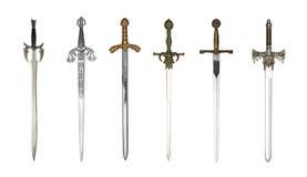 中世纪不同的剑 库存照片