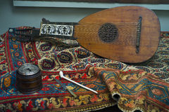 中世纪乐器 免版税库存照片