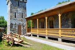 中世纪乔治亚建筑学  库存图片
