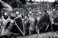 中世纪争斗(重建)捷克, Libusin 免版税库存照片
