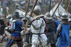 中世纪争斗 免版税库存图片