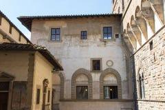 中世纪佛罗伦丁的大厦 从Palazzo Vecchio,佛罗伦萨,托斯卡纳,意大利的顶端看法 免版税库存照片