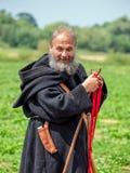 中世纪修士, Tewkesbury中世纪节日,英国 库存图片