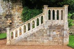 中世纪修道院台阶 库存图片