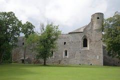 中世纪修道院的主楼的废墟在Padise 库存图片