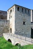中世纪入口的堡垒 库存图片