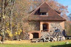中世纪公园在特拉凯,维尔纽斯,立陶宛 库存图片