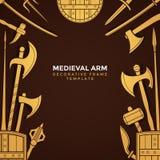 中世纪兵刃武装框架 免版税库存图片