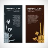 中世纪兵刃武装横幅 库存图片