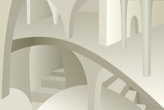 中世纪内部建筑学设计  库存图片